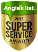 2013 Angies List Super Service Award Badge